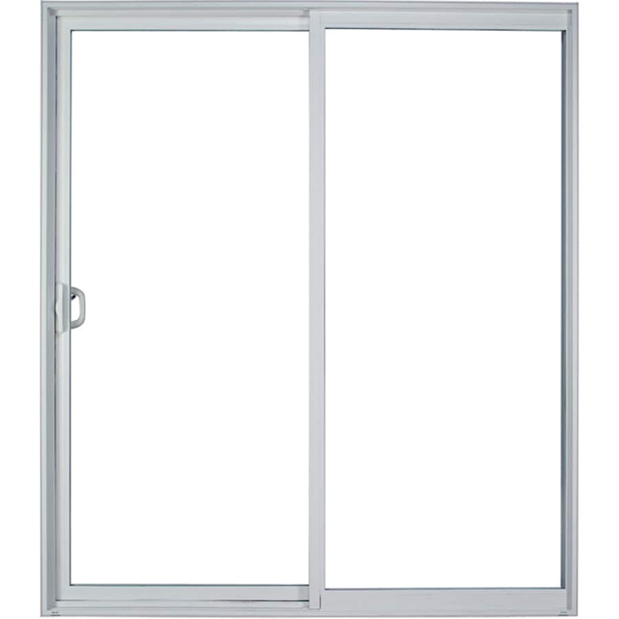 Shop milgard style line 595 in clear glass white vinyl sliding milgard style line 595 in clear glass white vinyl sliding patio door with screen planetlyrics Choice Image