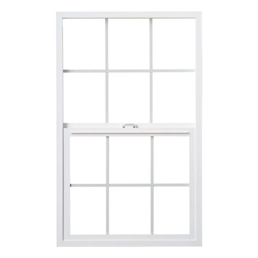 Milgard Styleline Vinyl Double Pane Single Strength Single Hung Window (Rough Opening: 24-in x 72-in; Actual: 23.5-in x 71.5-in)