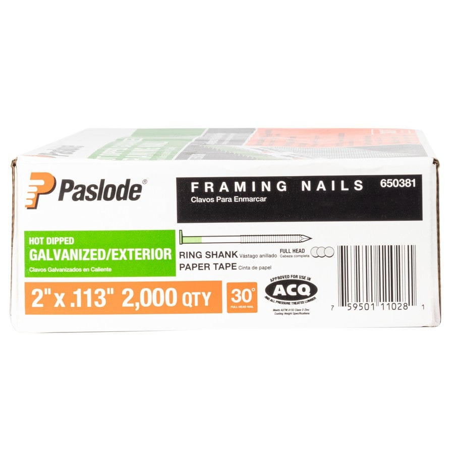 Paslode 2000-Count-Count 2.6-in Framing Pneumatic Nails