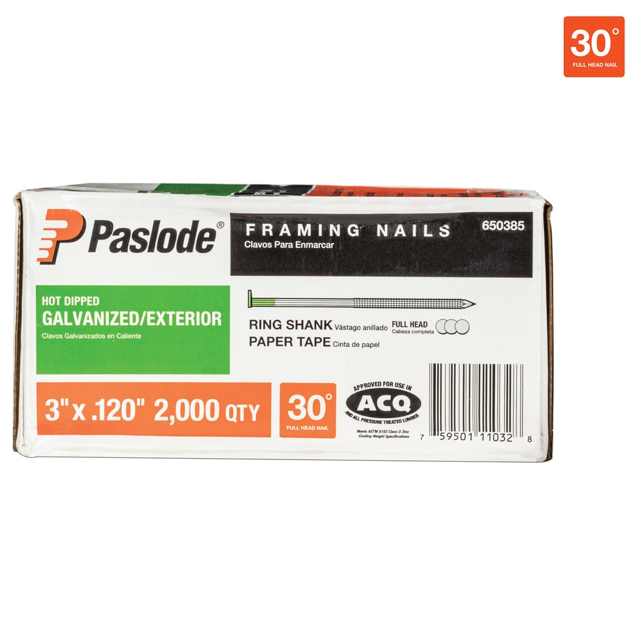 Paslode 2000-Count 3-in Framing Pneumatic Nails