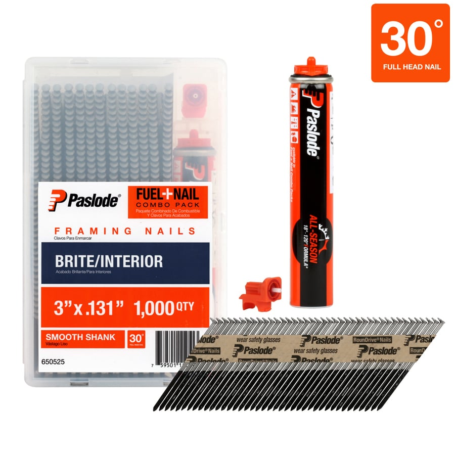 Paslode 1,000-Count 3-in Framing Pneumatic Nails