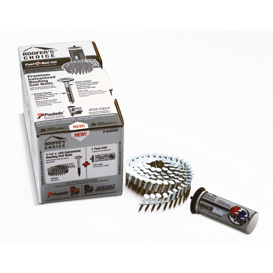 Paslode Roofer S Choice Fuel Nail Combo Pack In The Roofing Nails Department At Lowes Com