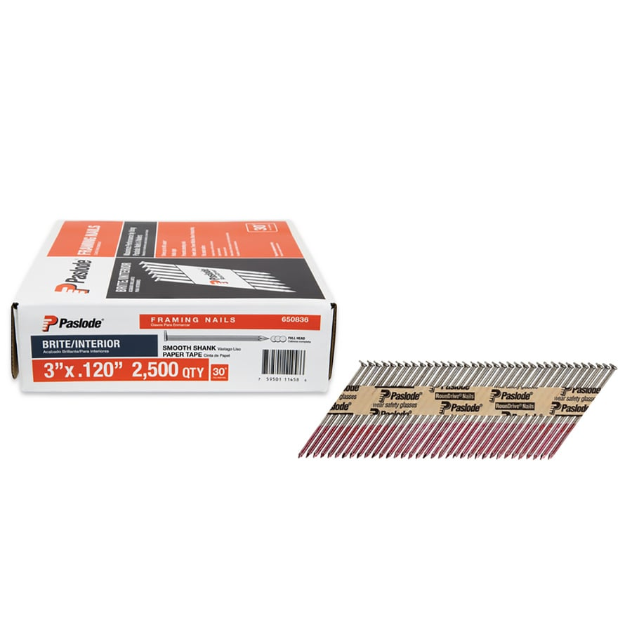 Shop Paslode 3-in 30-Degree Framing Pneumatic Nails (2500 Count) at ...