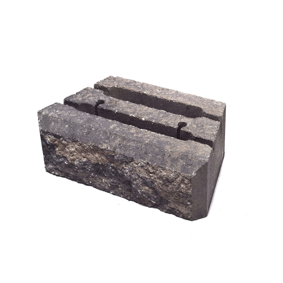 Insignia Grey and Buff Retaining Wall Block (Common: 4-in x 12-in; Actual: 4-in x 12-in)