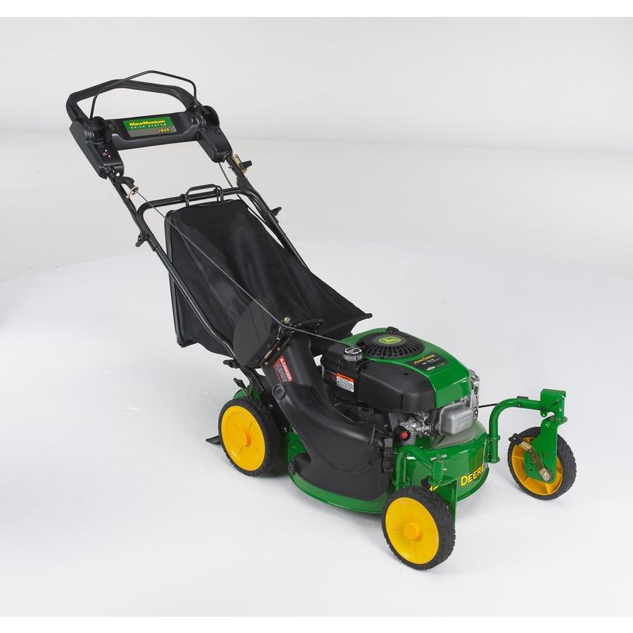 John Deere 190-cc 21-in Self-Propelled Rear Wheel Drive 2-in-1 Gas Lawn Mower with Mulching Capability