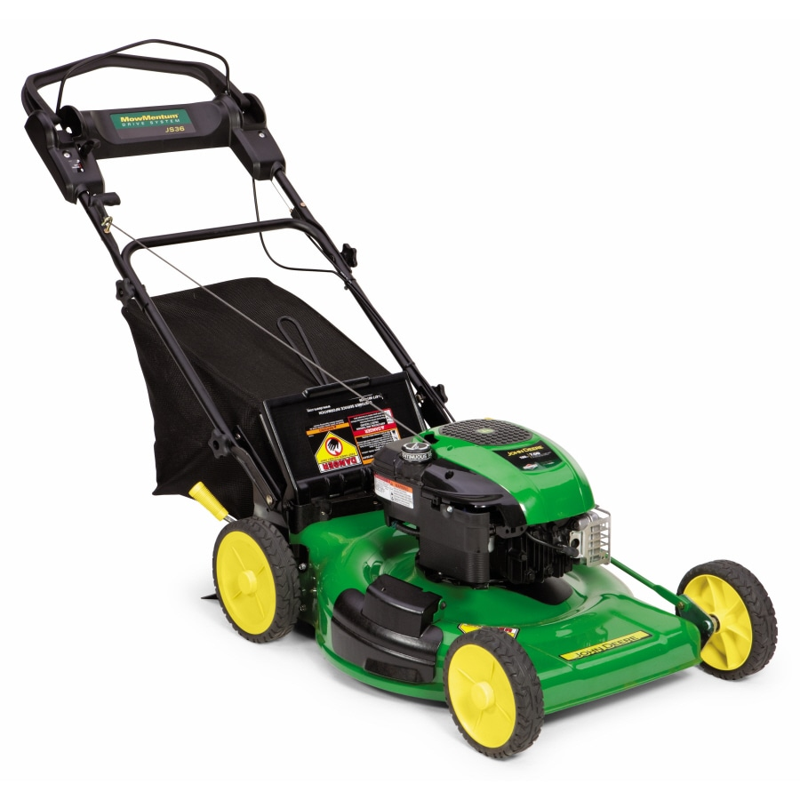 John Deere 190-cc 22-in Self-Propelled Rear Wheel Drive 3-in-1 Gas Lawn Mower with Mulching Capability