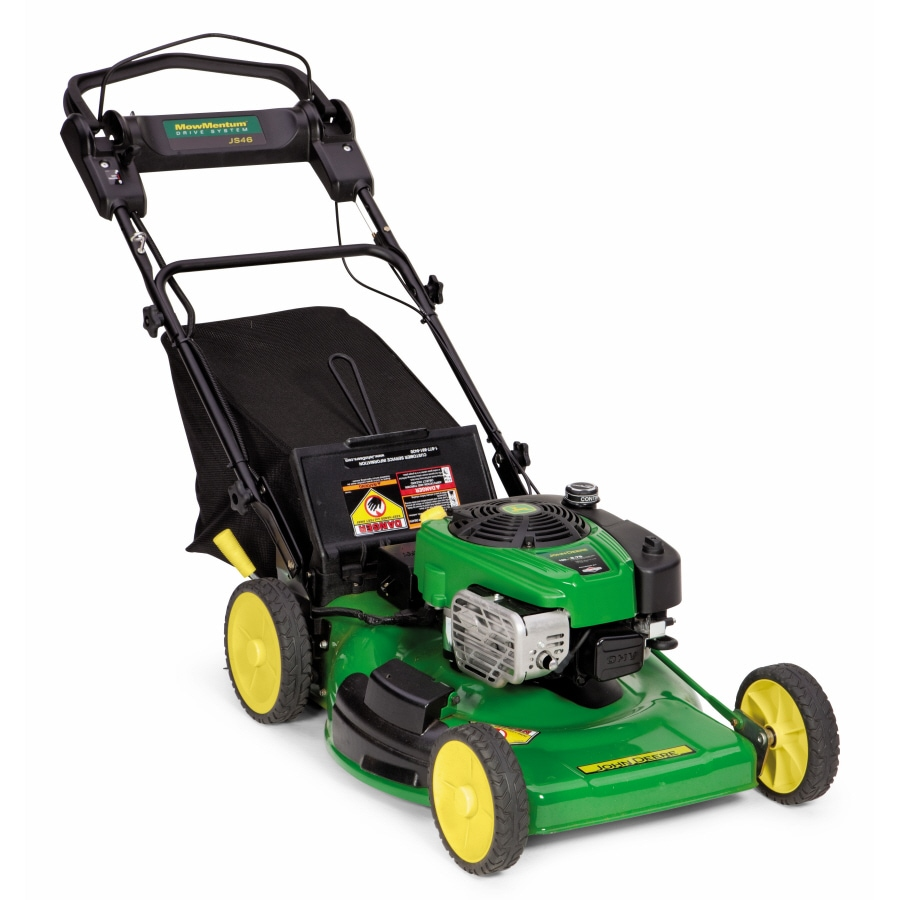 John Deere 190-cc 22-in Key Start Self-Propelled Rear Wheel Drive 3-in-1 Gas Lawn Mower with Mulching Capability