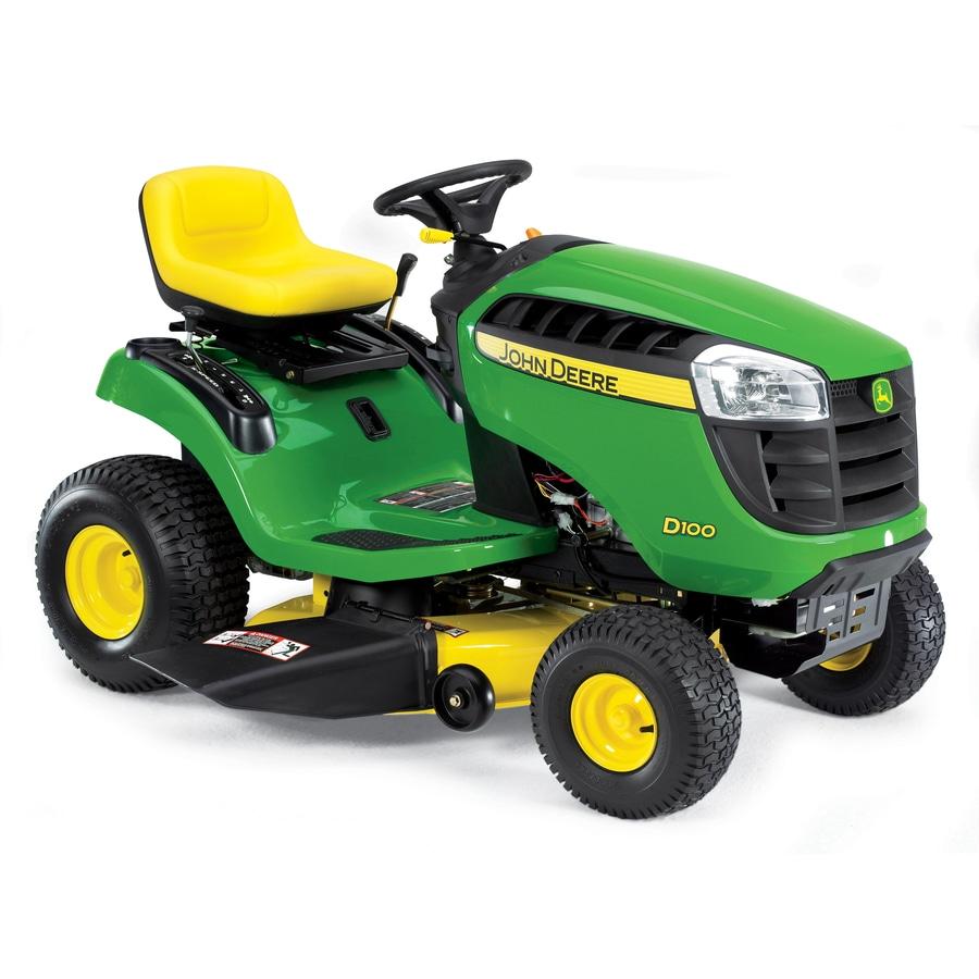 shop john deere d100 17 5 hp manual 42 in riding lawn mower at lowes com rh lowes com john deere la145 riding mower owner's manual john deere lawn mower repair manual