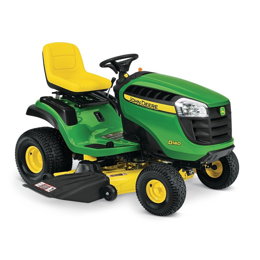 John Deere D140 22-Hp V-Twin Hydrostatic 48-in Riding Lawn Mower with Mulching Capability (CARB)