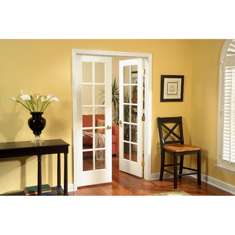 Shop Sincol 48 10 Lite Pine Interior French Door Unit At Lowes