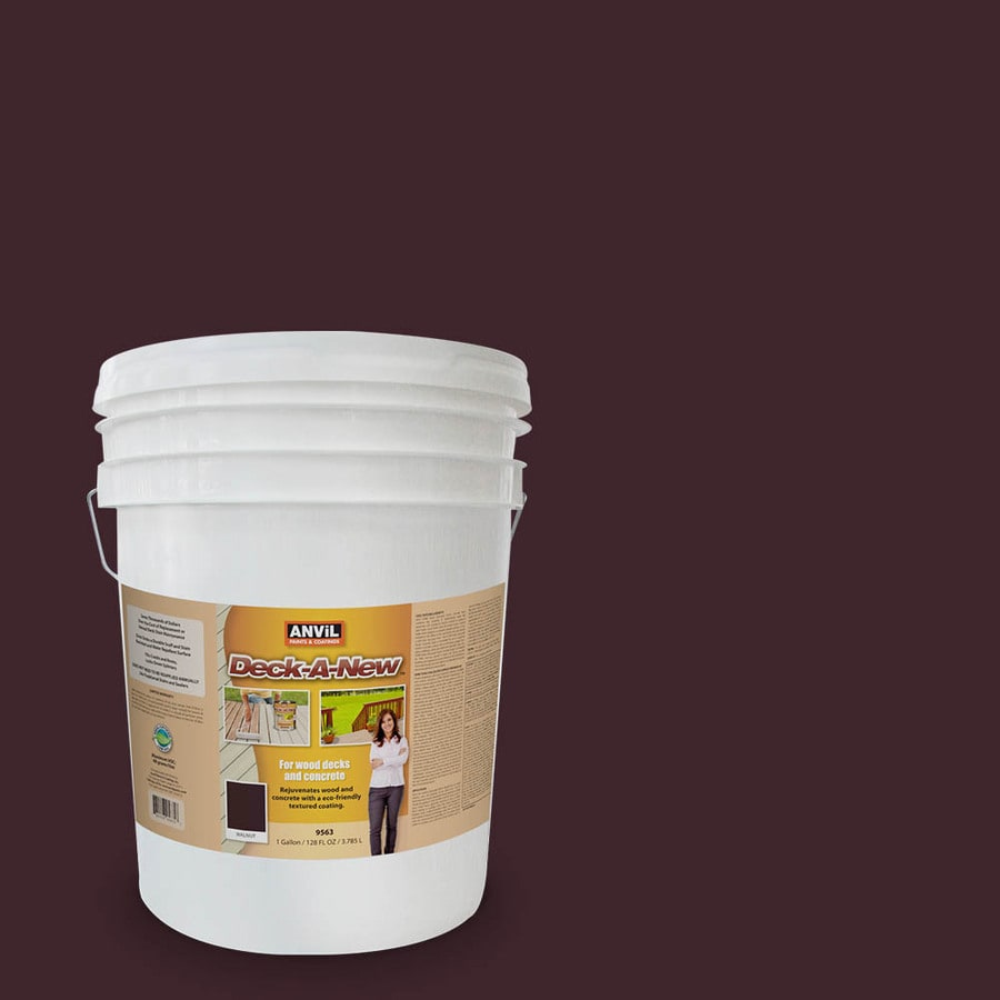 Anvil Paints Pre-Tinted Walnut Restoration Textured Solid Exterior Stain (Actual Net Contents: 640-fl oz)