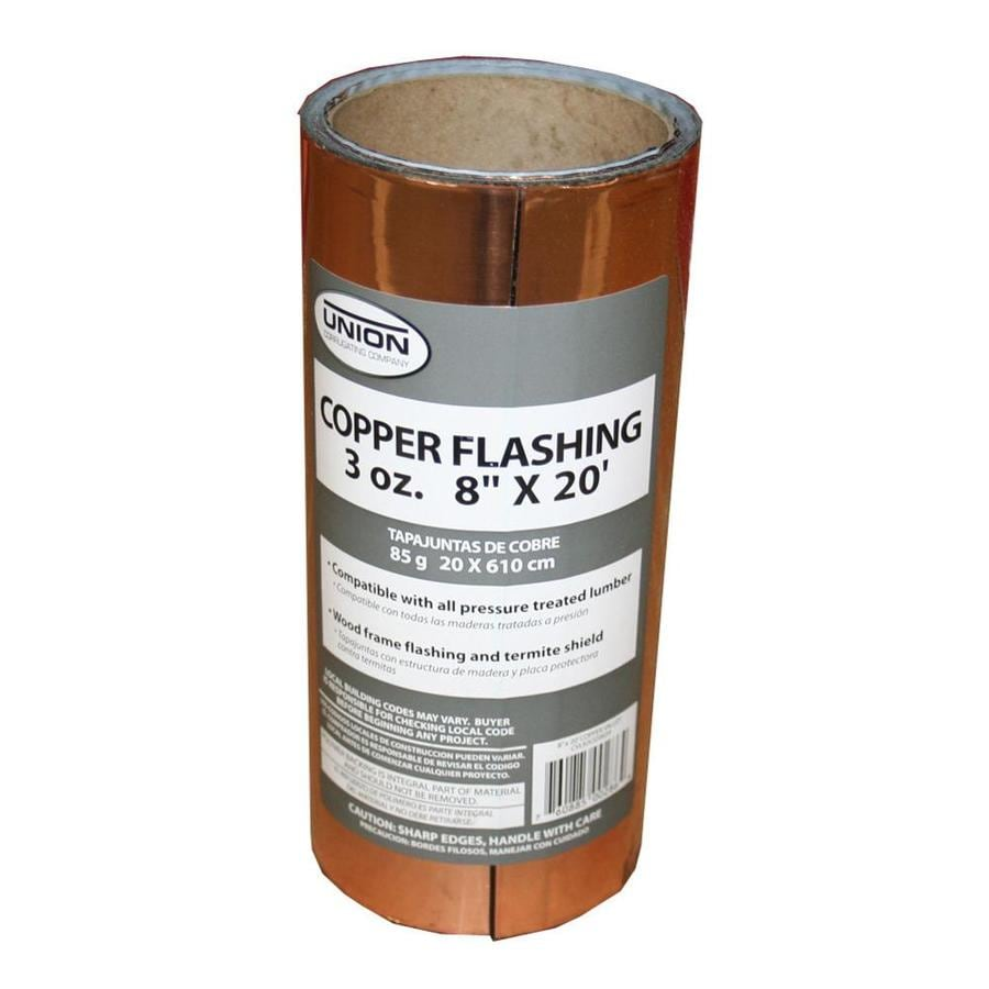 Shop Union Corrugating 8 In X 20 Ft Copper Roll Flashing