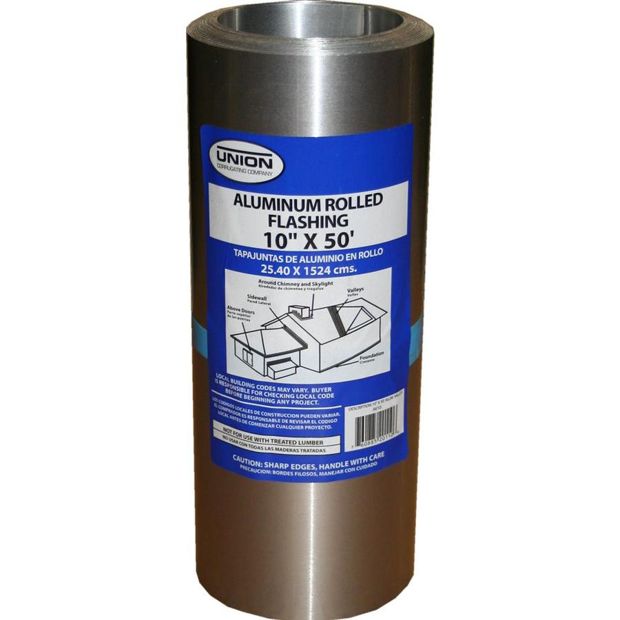 Union Corrugating 10-in x 50-ft Aluminum Roll Flashing