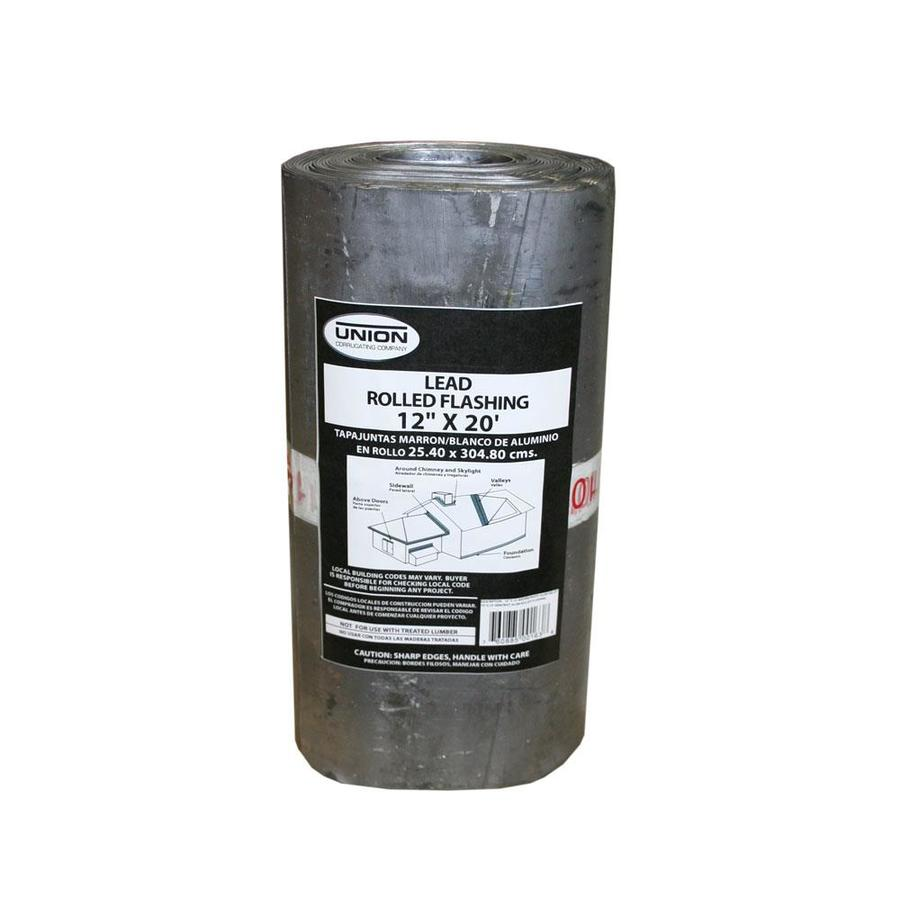Union Corrugating 12-in x 20-ft Lead Roll Flashing