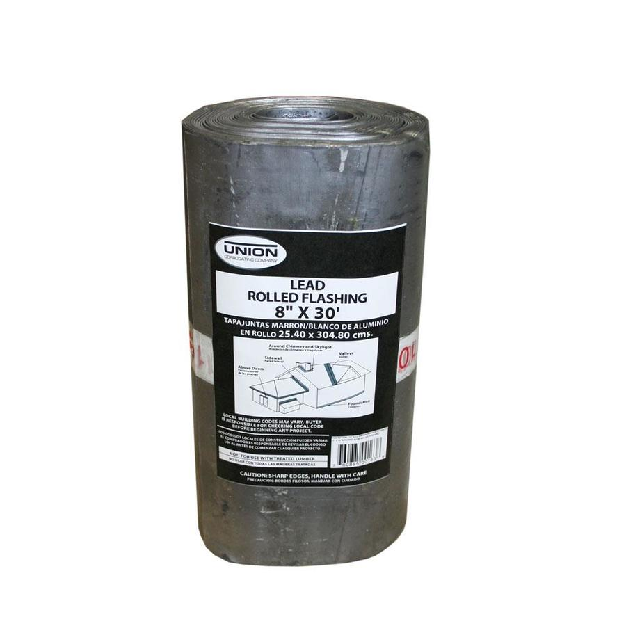 Union Corrugating 8-in x 30-ft Lead Roll Flashing