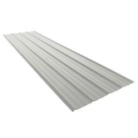 Union Corrugating 3 17 Ft X 8 Ft Ribbed Silver Steel Roof Panel In The Roof Panels Department At Lowes Com