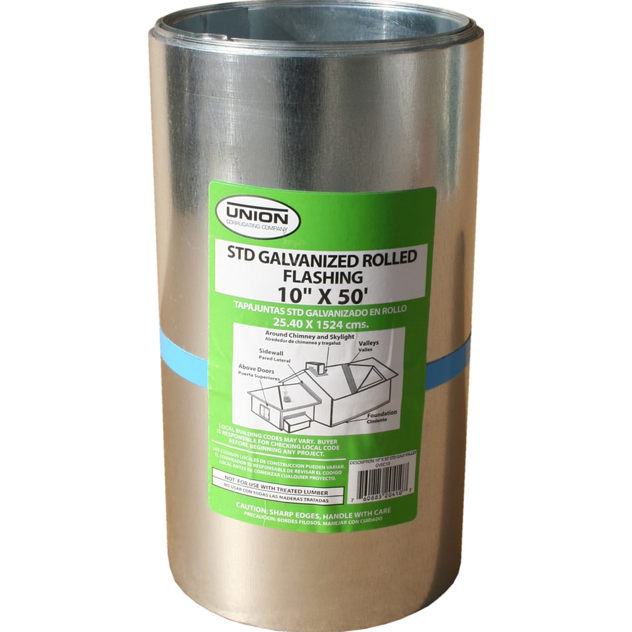 Union Corrugating 10-in x 50-ft Galvanized Steel Roll Flashing