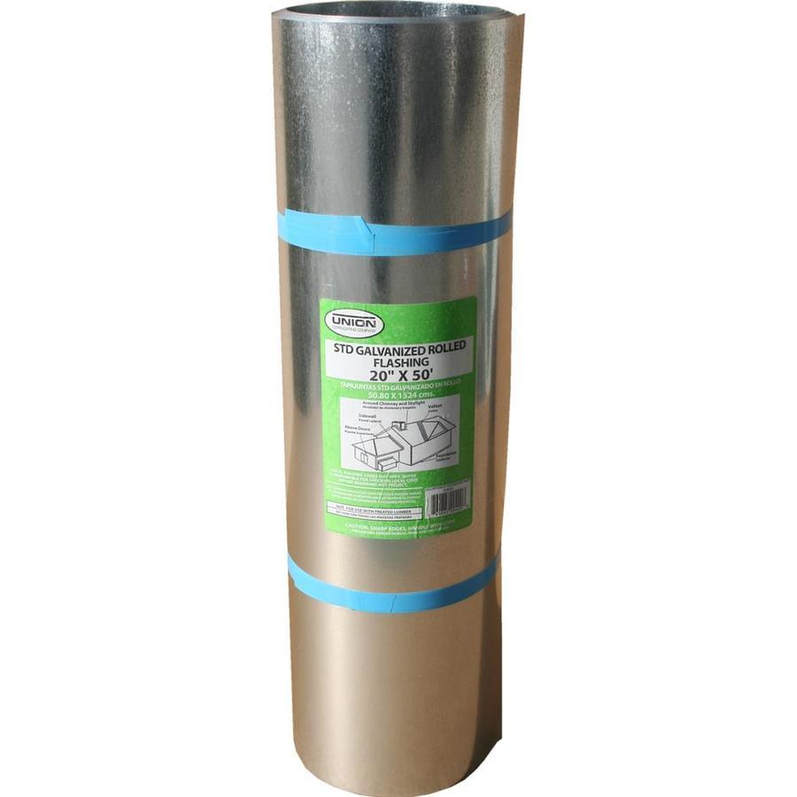 Union Corrugating 20-in x 50-ft Galvanized Steel Roll Flashing