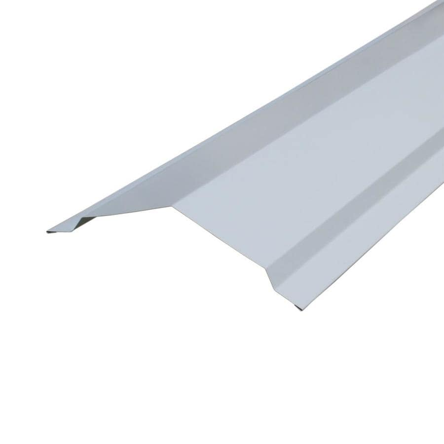Union Corrugating 14-in x 120-in White Steel Stick Roof Ridge Vent