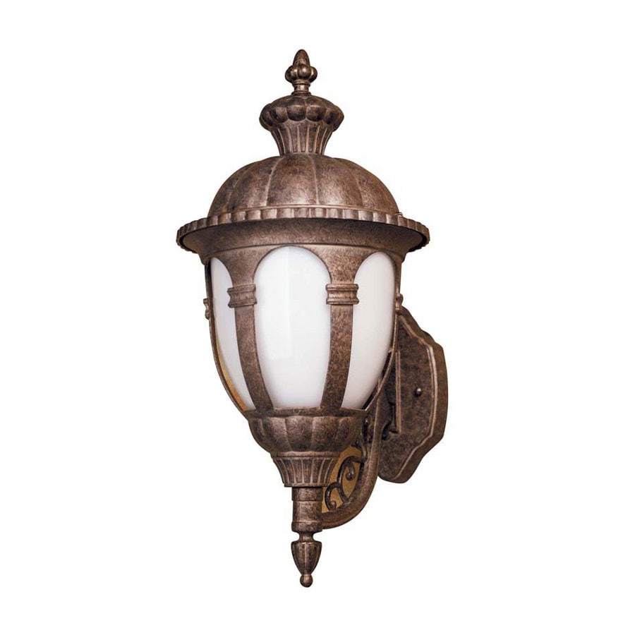 Leadco 19-3/4-in Aged Silver Outdoor Wall Light