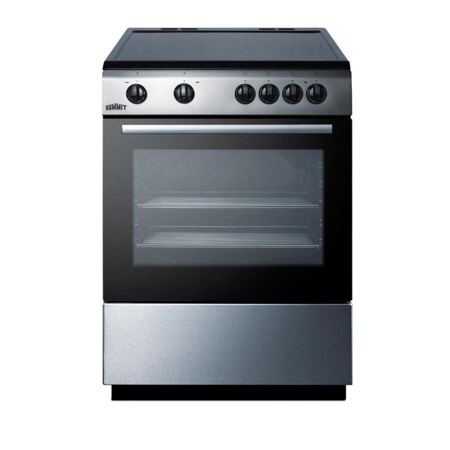 Electric Range Smooth Top Cooking Surface Summit On In: Shop Summit Appliance 24 In. Smooth Top Electric Range In