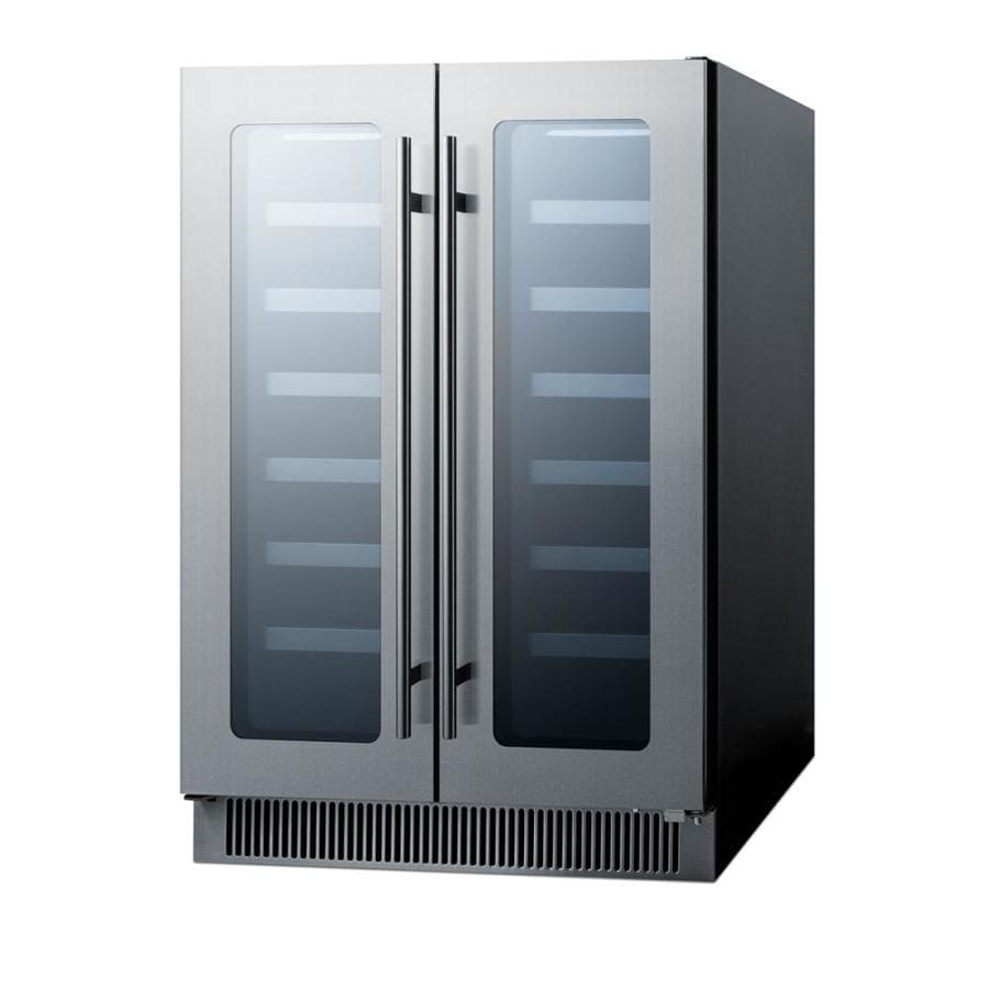Stainless Steel And Glass Kitchen Cabinet Doors: Shop Summit Appliance 42-Bottle Capacity Black Cabinet