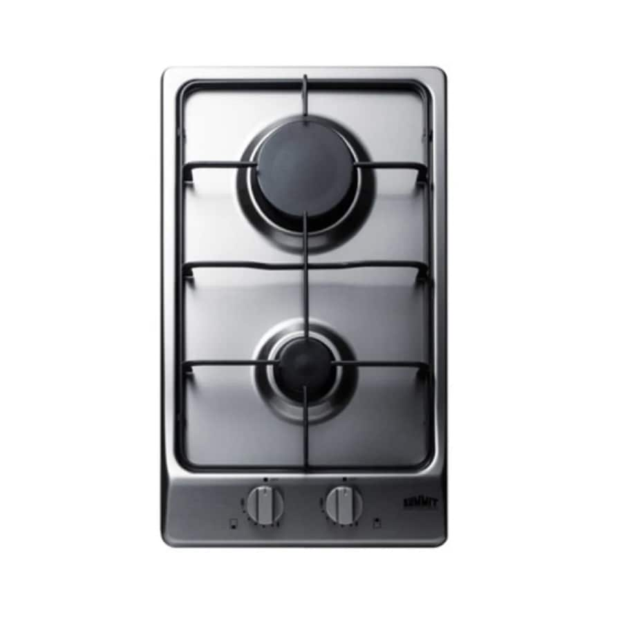 f04f66ce9fc Summit Appliance 12-in 2-Burner Stainless Steel Gas Cooktop (Common  12-in   Actual  11.88-in)