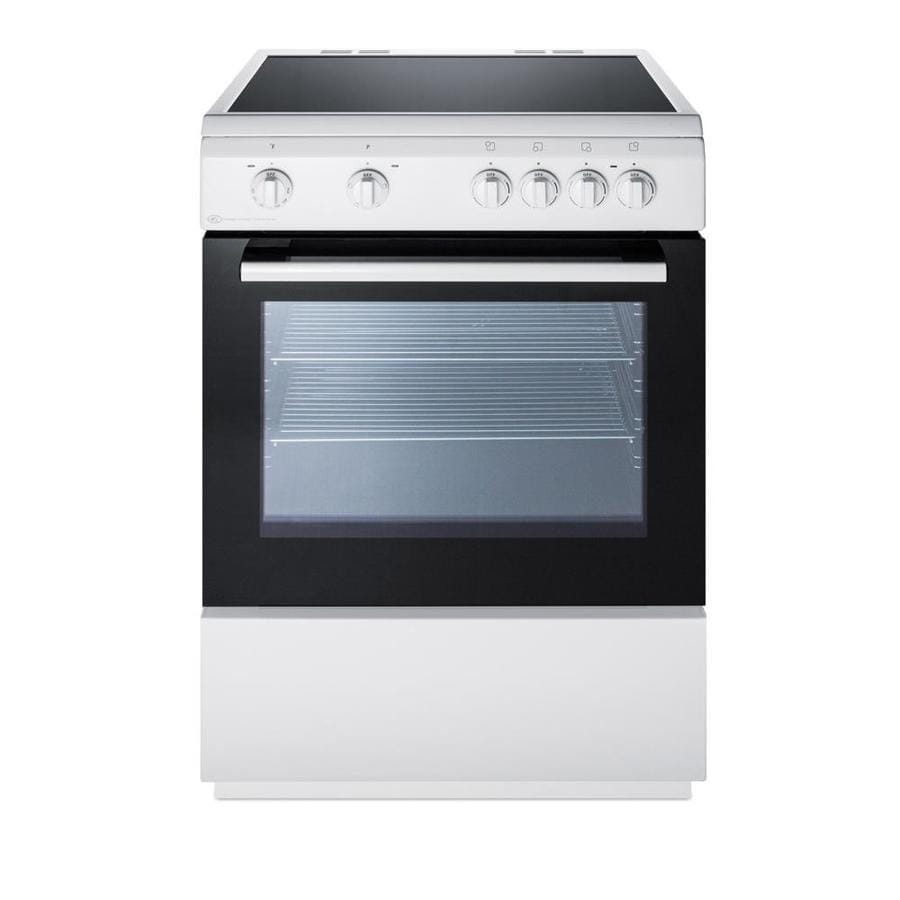 Electric Range Smooth Top Cooking Surface Summit On In: Summit Appliance 24 In. Smooth Top Electric Range In White