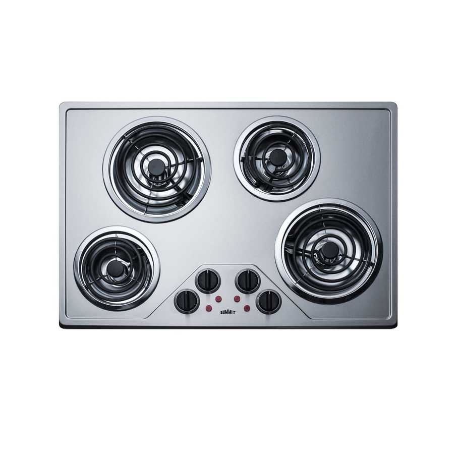 Summit Appliance 30 In Coil Stainless Steel Electric