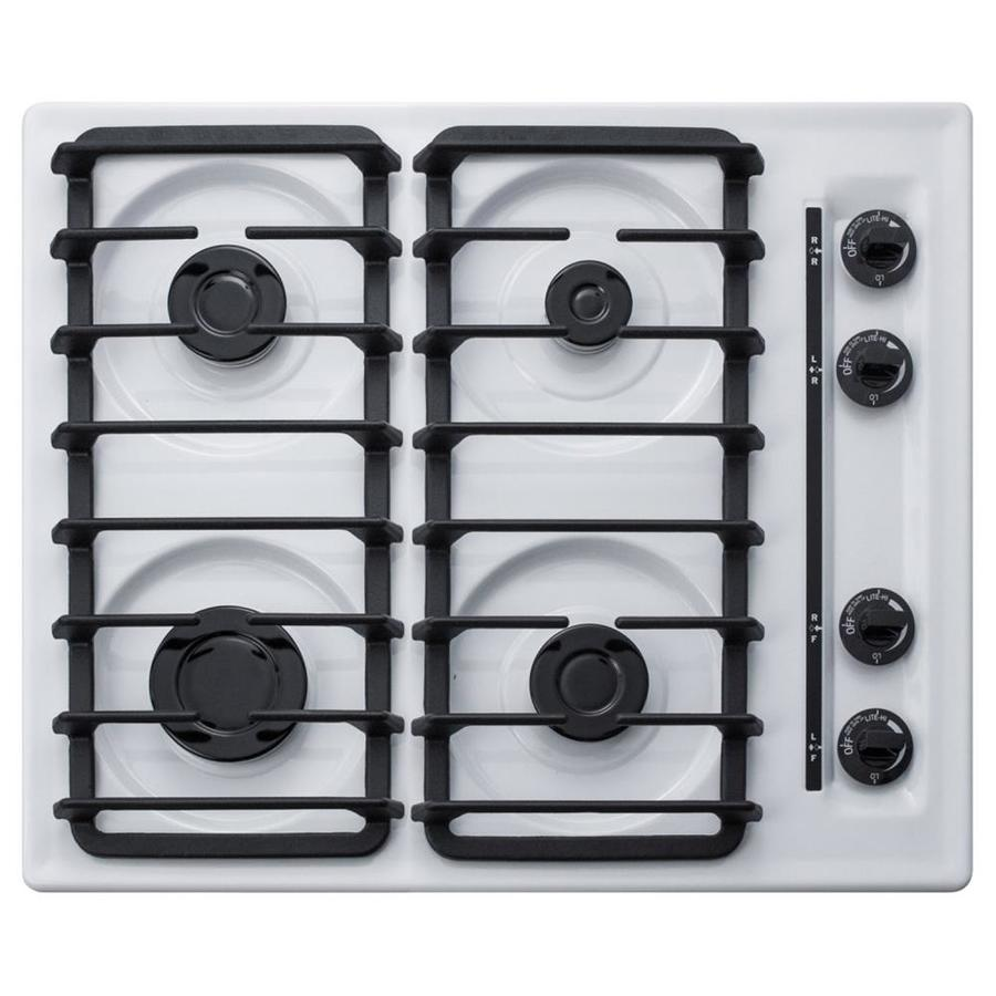 Summit Appliance 24 In 4 Burners White Gas Cooktop In The Gas Cooktops Department At Lowes Com