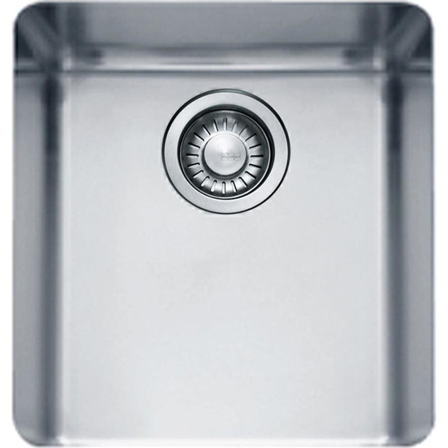 Franke Kubus 16.9375-in x 14.5625-in Single-Basin Stainless Steel Undermount Residential Kitchen Sink