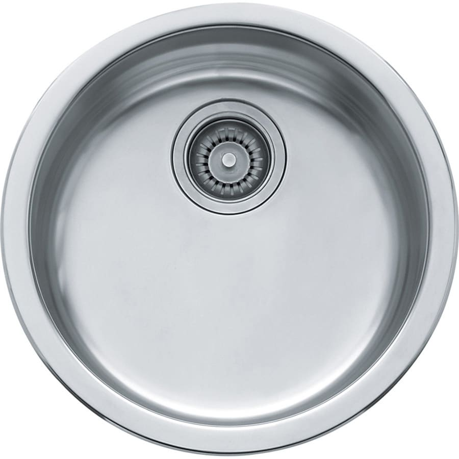 Franke Rotondo 17.125-in x 17.125-in Stainless Steel Single-Basin-Basin Stainless Steel Drop-in or Undermount (Customizable)-Hole Residential Kitchen Sink