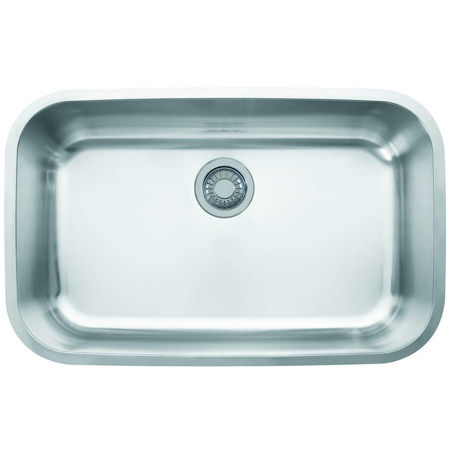 Franke Oceania 18.9375-in x 29.9375-in Stainless Steel Single-Basin Undermount Residential Kitchen Sink