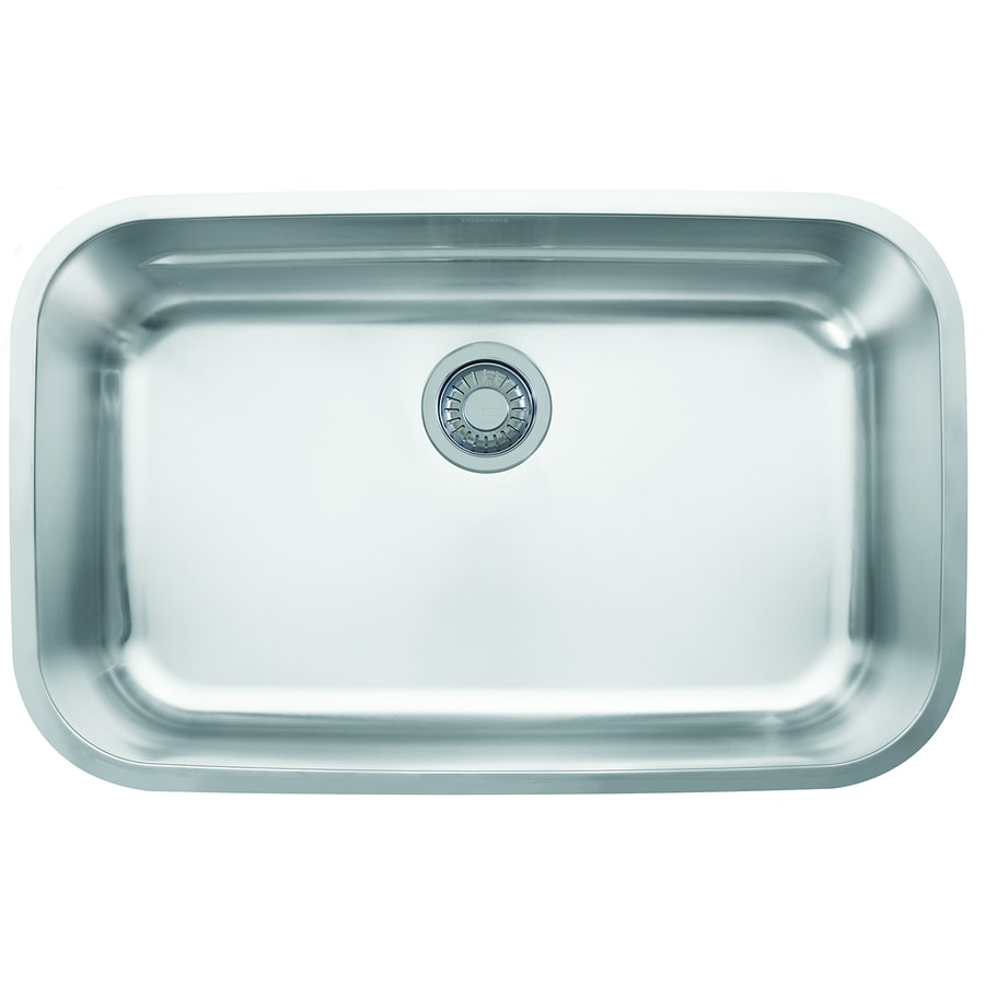 Franke Oceania 18.9375-in x 29.9375-in Stainless Steel Single-Basin ...