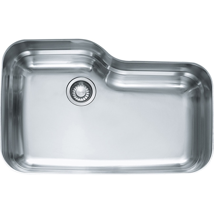 Franke Orca 20.0625-in x 30.6875-in Single-Basin Stainless Steel Undermount Residential Kitchen Sink
