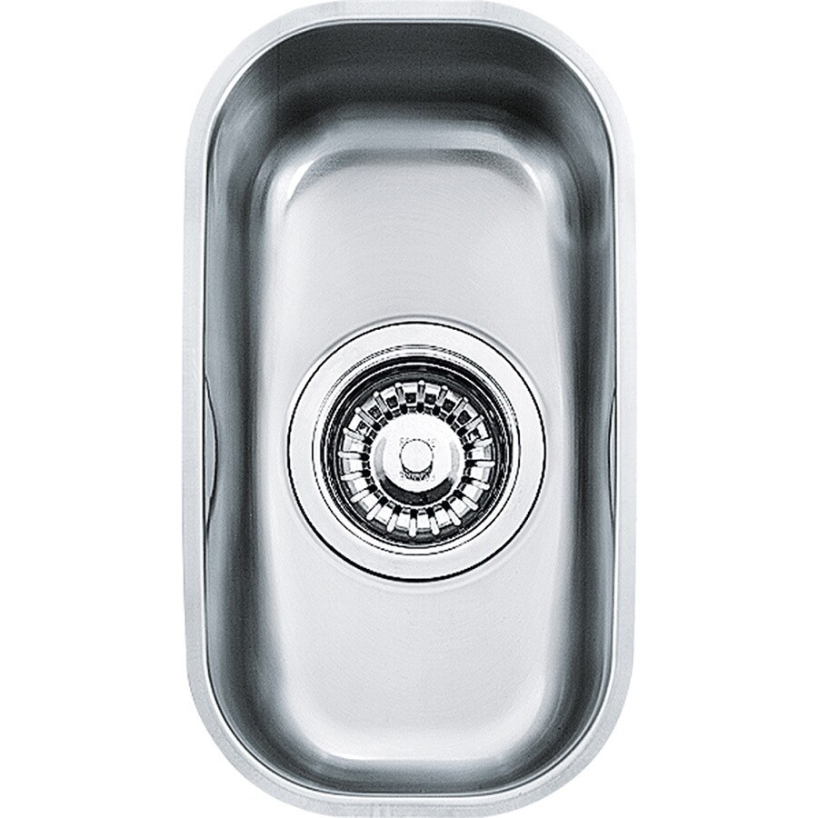 Franke Artisan 13.375-in x 7.5-in Stainless Steel Single-Basin-Basin Stainless Steel Undermount (Customizable)-Hole Residential Kitchen Sink