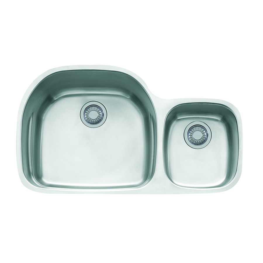 Franke Prestige 20.5-in x 35.625-in Stainless Steel Single-Basin-Basin Stainless Steel Undermount (Customizable)-Hole Residential Kitchen Sink