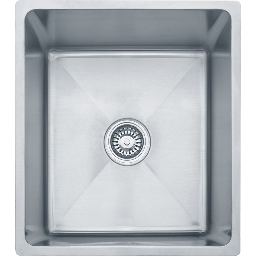 Franke Professional 19.5-in x 17.5-in Stainless Steel Single-Basin Undermount Commercial Kitchen Sink
