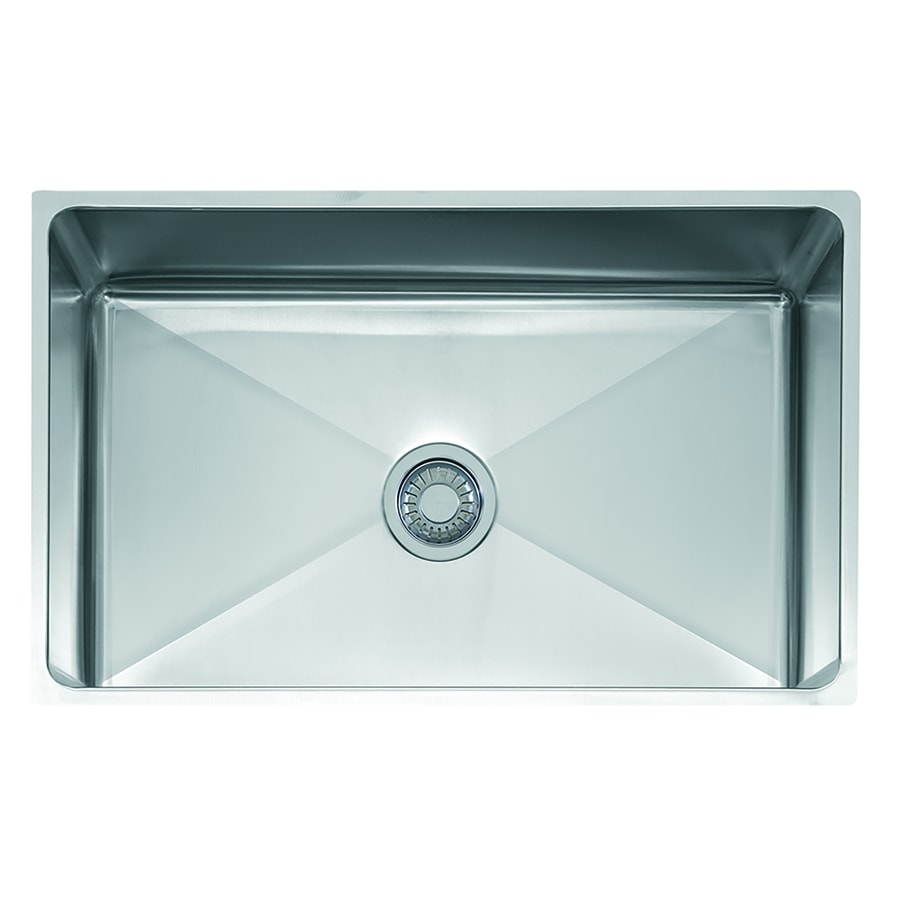 Franke Professional 19.5-in x 31.5-in Stainless Steel Single-Basin-Basin Stainless Steel Undermount (Customizable)-Hole Commercial Kitchen Sink