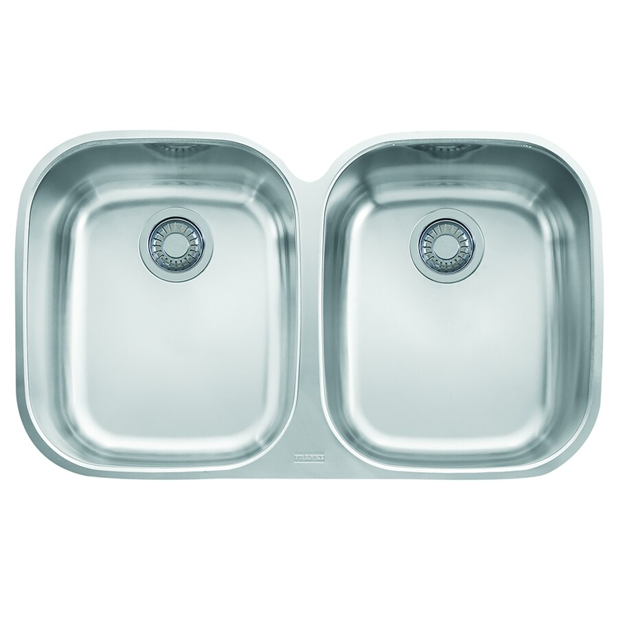 Franke Regatta 20.5-in x 34.0625-in Stainless Steel Single-Basin-Basin Stainless Steel Undermount (Customizable)-Hole Residential Kitchen Sink