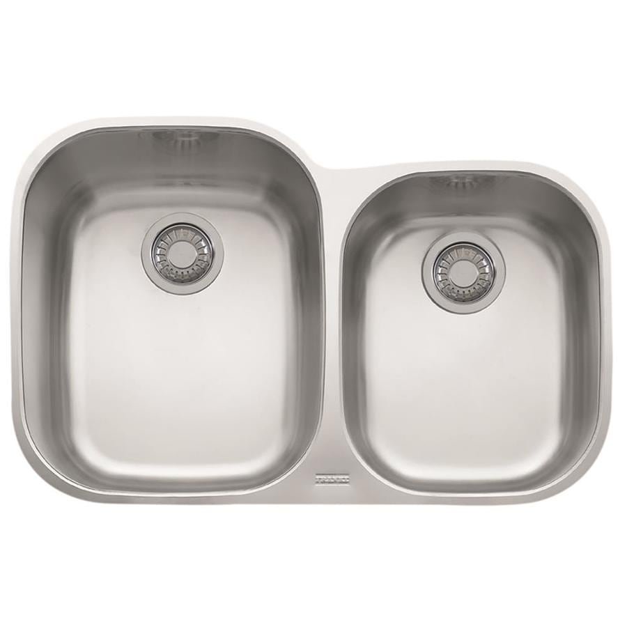 Franke Regatta 20.5-in x 31.5-in Stainless Steel Double-Basin Undermount Residential Kitchen Sink