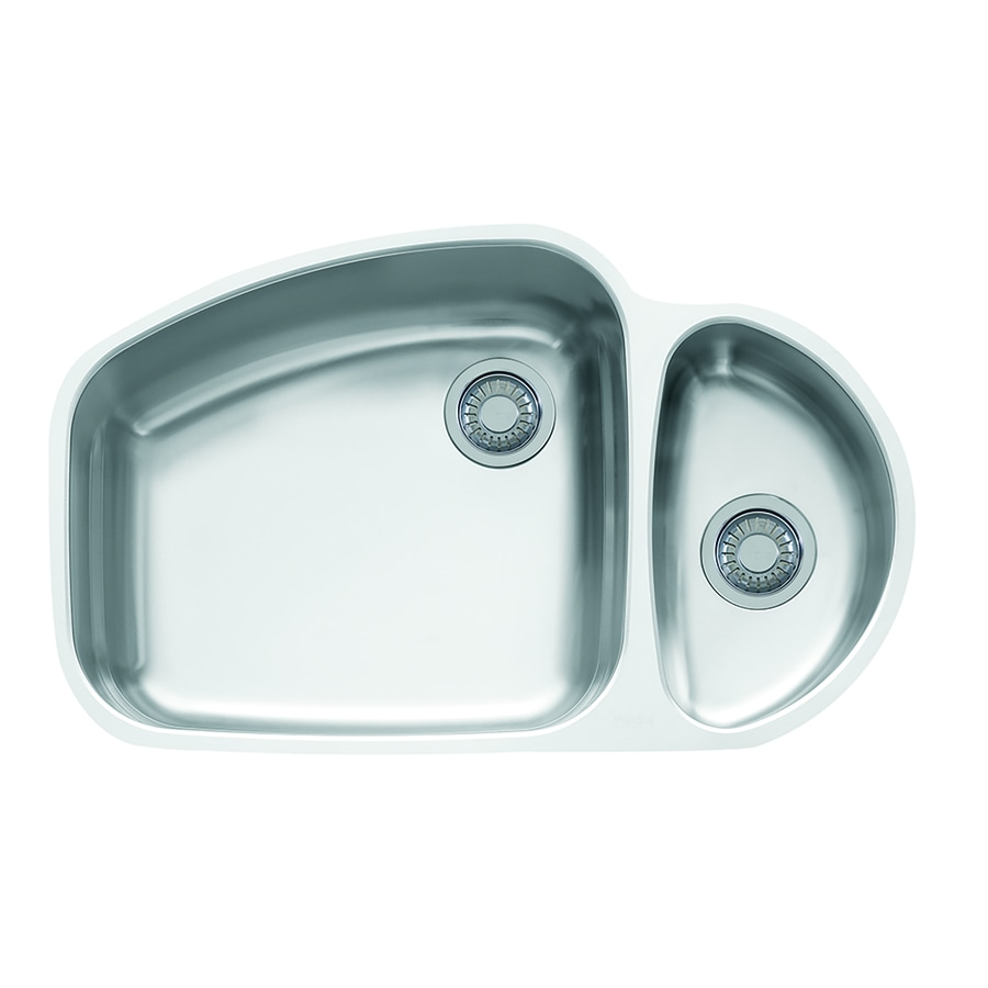 Shop Franke Vision 20.875-in x 33.25-in Double-Basin Stainless Steel ...