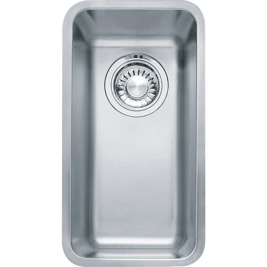 Franke Kubus 16.9375-in x 9.0625-in Stainless Steel Single-Basin Stainless Steel Undermount Residential Kitchen Sink