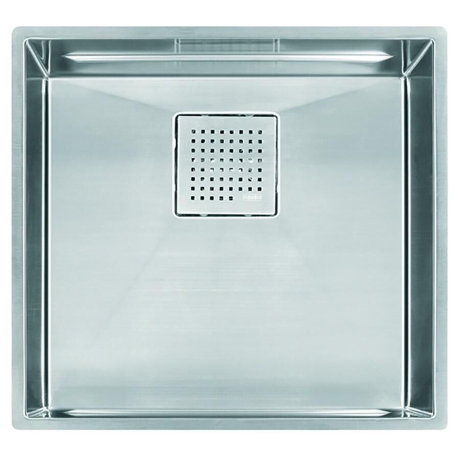 Franke Peak 17.75-in x 18.875-in Single-Basin Stainless Steel Undermount Residential Kitchen Sink