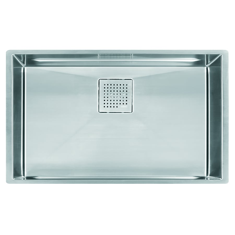 Shop Franke Peak 17.75-in x 28.75-in Single-Basin Stainless Steel ...