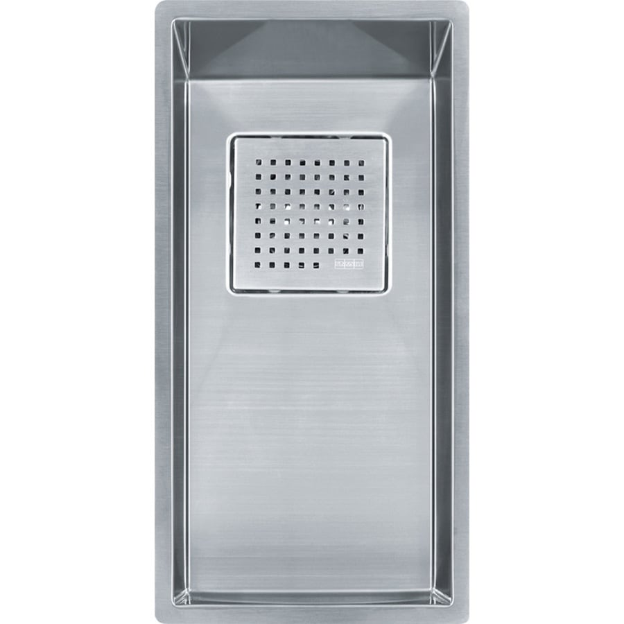 Franke Peak 17.75-in x 8.25-in Single-Basin Stainless Steel Undermount ...