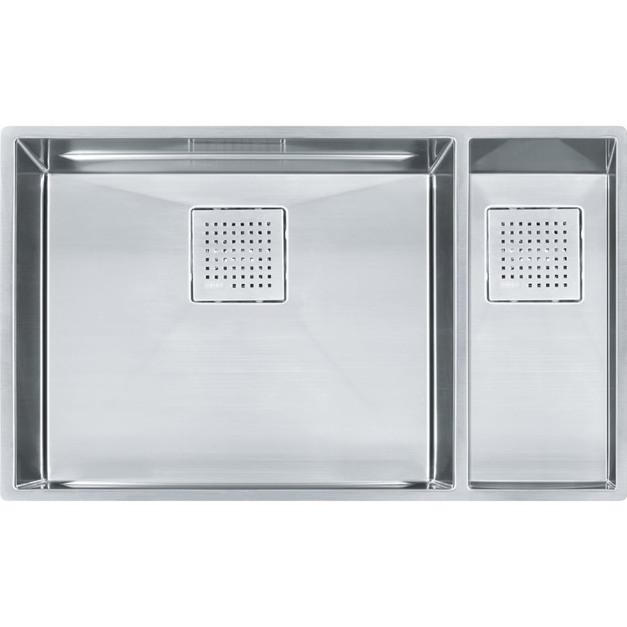 Franke Peak 17.75-in x 30.875-in Double-Basin Stainless Steel Undermount Residential Kitchen Sink