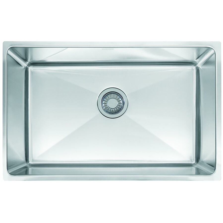 Franke Professional 17.625-in x 28.6875-in Stainless Steel Single-Basin Undermount Commercial Kitchen Sink
