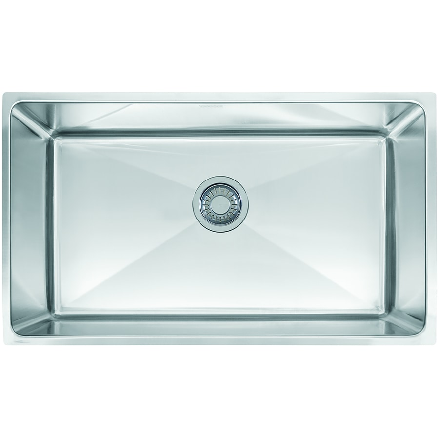 Franke Professional 17.625-in x 31.4375-in Stainless Steel Single-Basin Undermount Commercial Kitchen Sink