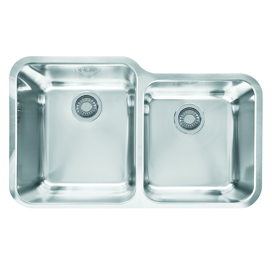 Franke Largo 19.5-in x 32.5-in Double-Basin Stainless Steel Undermount Residential Kitchen Sink